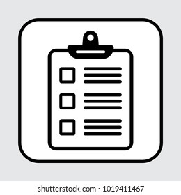 Clipboard or checklist icon. Vector illustration