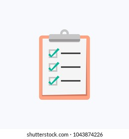 Clipboard Checklist Vector Icon