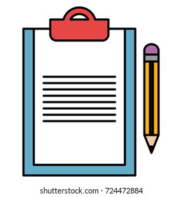 clipboard document with pencil