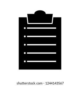 clipboard Glyph Black Icon
