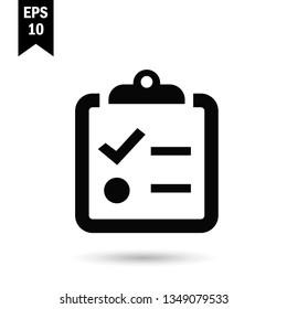 Clipboard icon.To do list vector sign.Reminder symbol.Notepaper illustration for graphic design, web and mobile platforms.