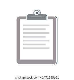 clipboard icon. flat illustration of clipboard - vector icon. clipboard sign symbol