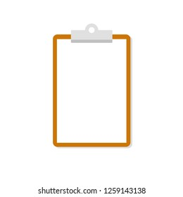 Clipboard icon. Flat style