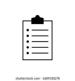 Clipboard icon on a white background. eps 10