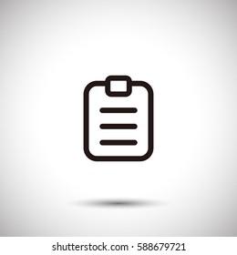 Clipboard icon. Order list vector