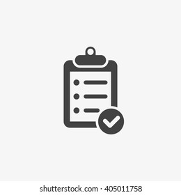 Clipboard Icon in trendy flat style isolated on grey background. Checklist symbol for your web site design, logo, app, UI. Vector illustration, EPS10.