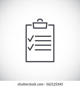 Clipboard icon Vector.
