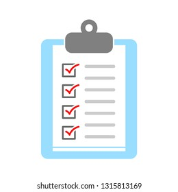 clipboard icon - vector check list, checklist form illustration, survey icon