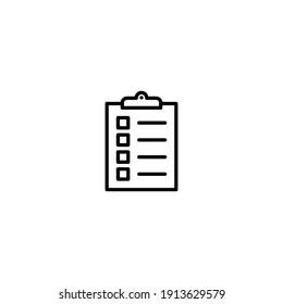 Clipboard-Icon-Vektorgrafik für Computer-, Web- und Mobile-App