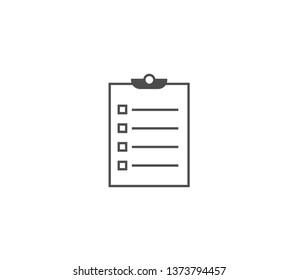Clipboard icon . Vector . EPS 10