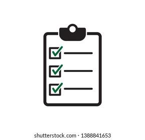 Clipboard icon vector logo template