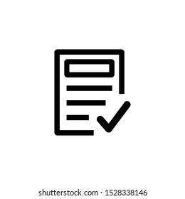 Clipboard icon vector. Task icon isolated