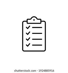 Clipboard icon vector. Task line icon symbol vector illustration