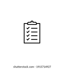 Clipboard icon vector for web, computer and mobile app
