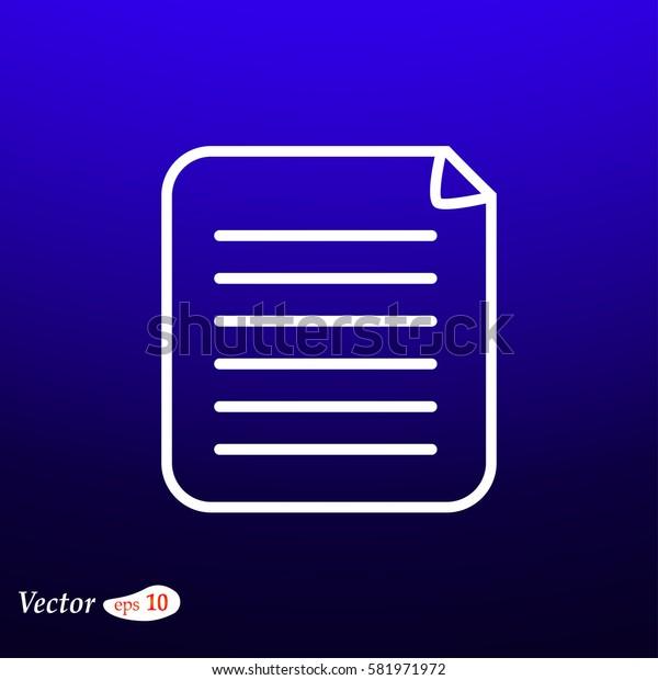 Clipboard Icon. Web design style.