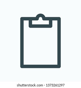 Clipboard isolated vector icon icon