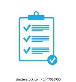 Clipboard line icon. Check list symbol right mark