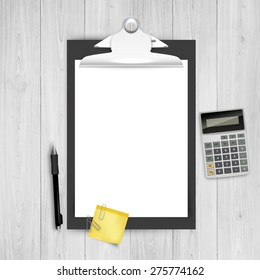 Clipboard Vector In Business Theme Design. Eps 10