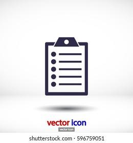 clipboard . Vector icon 10 EPS