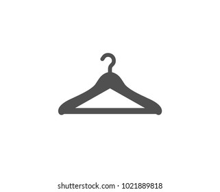 Cloakroom simple icon. Hanger wardrobe sign. Clothes service symbol. Quality design elements. Classic style. Vector