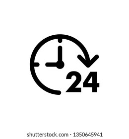 Cloc 24 vector icon