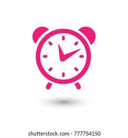 Clock alarm icon, wake up time, vector illustration