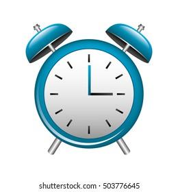 clock alarm isolated icon vector illustration design