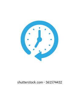 Clock arrow icon vector illustration eps10.