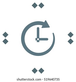 Clock with Arrow vector icon. Deadline time symbol. Business concept timer sign.