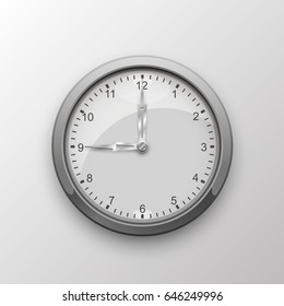 Clock with arrows on white background. Vector illustration