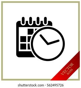 clock and calendar, icon