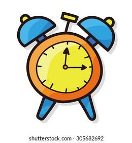 clock color doodle