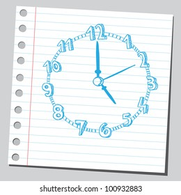 Clock drawing (five o'clock)