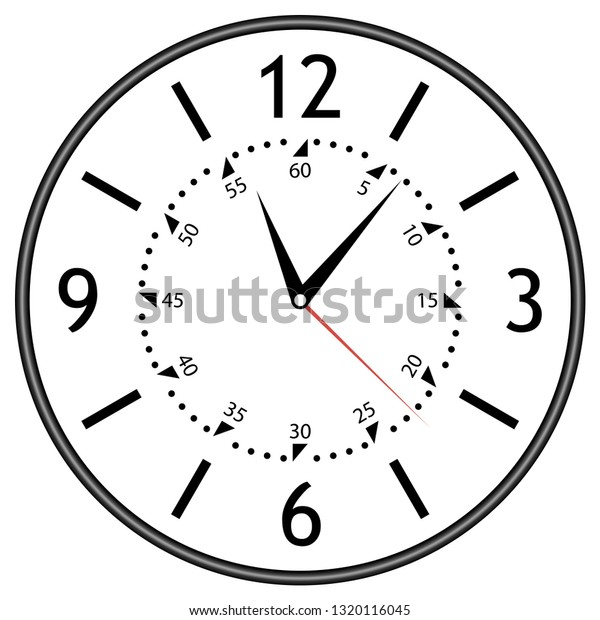 Clock Face House Alarm Table Kitchen Stock Vector (Royalty Free