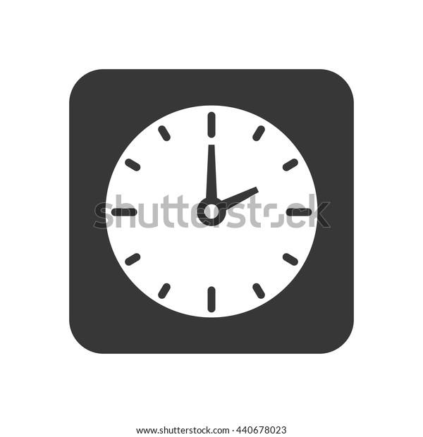 Clock frame icon. Time design. vector graphic