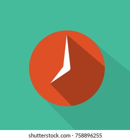 Clock - graphic for business design, infographics, reports or workflow layout in flat style