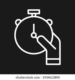 Clock, hand, stopwatch icon vector image. Can also be used for customer support. Suitable for use on web apps, mobile apps and print media.