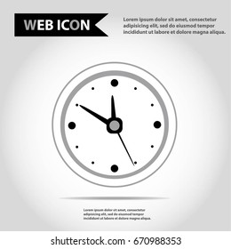 Clock icon, with arrows and clock face, idea for favicon or logo element.