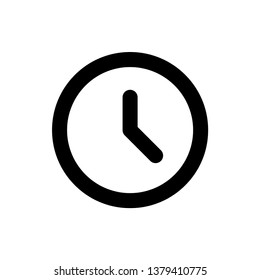 Clock icon design template. Vector EPS 10