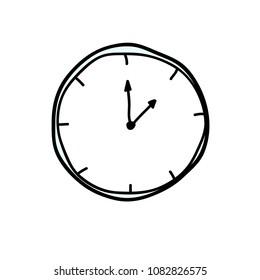 clock icon doodle