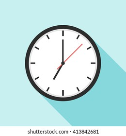 Clock icon. Clock icon eps. Clock icon vector. Element for web design and other purposes.