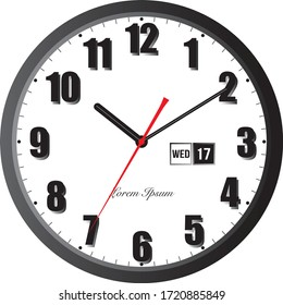 Clock icon in flat style, timer on white background. Business watch. Vector design element for you project. EPS 10