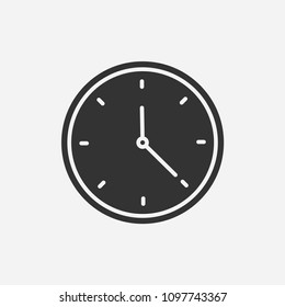 Clock icon illustration,vector time sign symbol