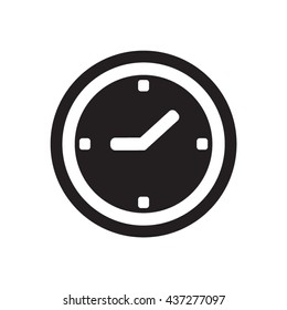 Clock   icon,  isolated. Flat  design.