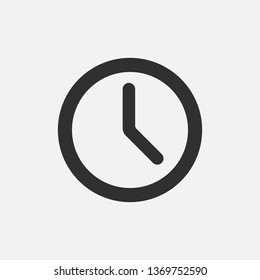 Clock icon isolated on white background. Vector illustration.