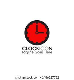 Clock icon logo design illustration vector template
