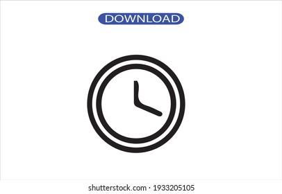 Clock icon or logo high resolution