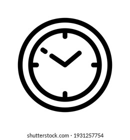 clock icon or logo isolated sign symbol vector illustration - high quality black style vector icons