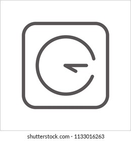 Clock icon on background whitg coler. Clock icon page symbol for your web site design