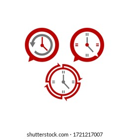 Clock icon set  different icon of logo time clock